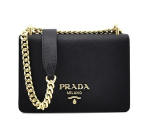 Prada Logo Exclusive Leather Textured 053 Shoulder Bag