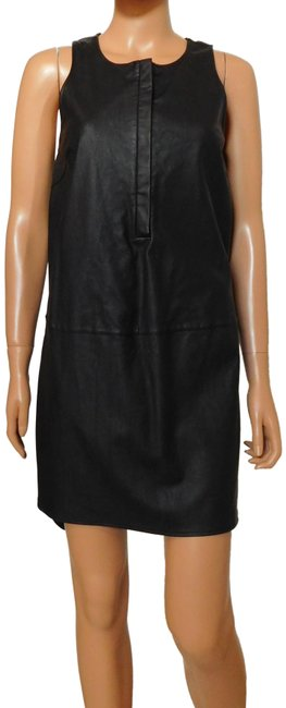 Item - Black New Faux Leather Shift Short Night Out Dress Size 8 (M)