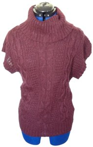 Forever 21 Short Sleeve Bat Sleeve Cable Knit Cowell Neck Versatile Sweater
