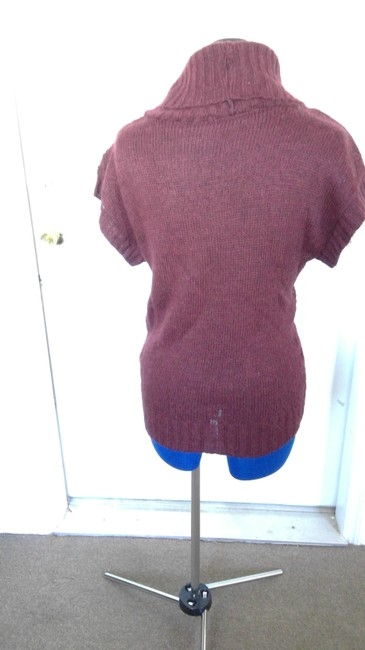 Forever 21 Short Sleeve Bat Sleeve Cable Knit Cowell Neck Versatile Sweater Image 1