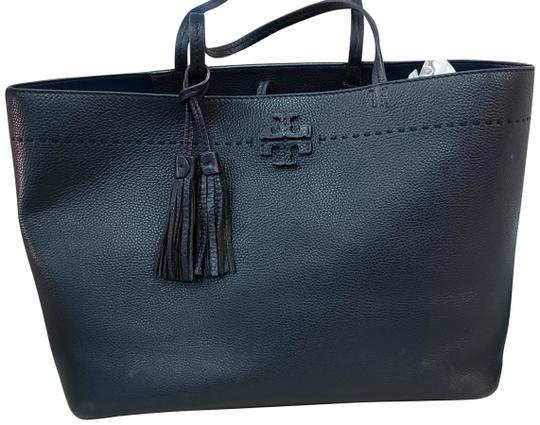 7cf3b4a8325 Tory Burch Mcgraw Tote Large Black Leather Shoulder Bag - Tradesy