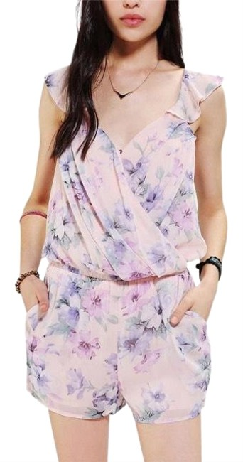 Preload https://img-static.tradesy.com/item/25151087/lucca-couture-purple-pastel-floral-wrap-romperjumpsuit-0-1-650-650.jpg