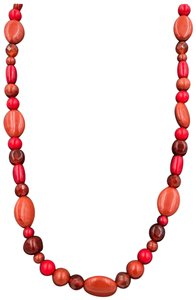 Carolyn Pollack Carolyn Pollack 925 Sterling Silver Carnelian/Coral/Red Jasper Long Beaded Necklace