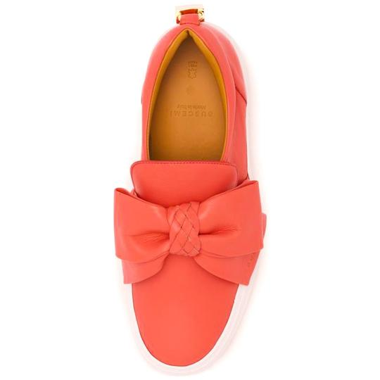 Buscemi Made In Italy Luxury Designer Padlock Bow Skate Sneaker Red Orange (Parma) Flats Image 2
