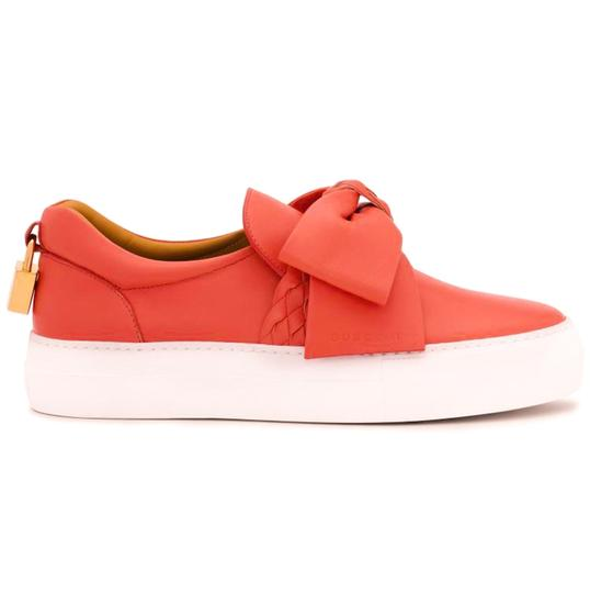 Buscemi Made In Italy Luxury Designer Padlock Bow Skate Sneaker Red Orange (Parma) Flats Image 3