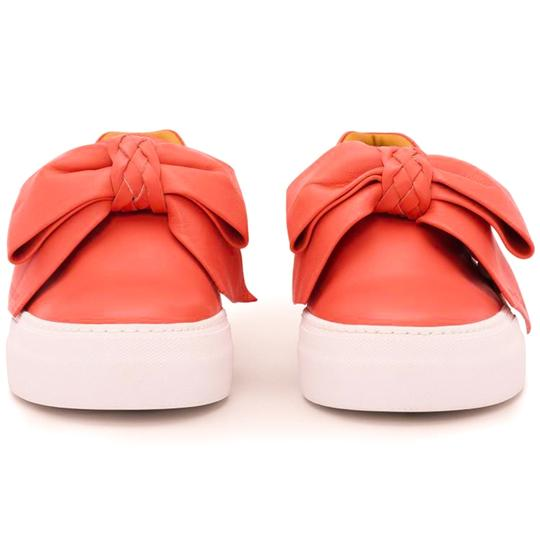 Buscemi Made In Italy Luxury Designer Padlock Bow Skate Sneaker Red Orange (Parma) Flats Image 5