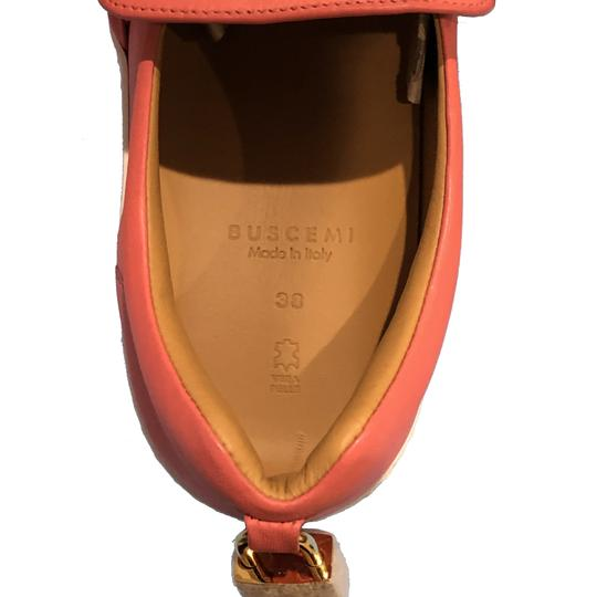 Buscemi Made In Italy Luxury Designer Padlock Bow Skate Sneaker Red Orange (Parma) Flats Image 8