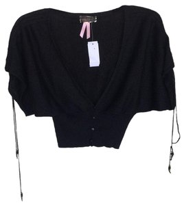 Lipsy V-neck Metallic European Cardigan Crop Sweater