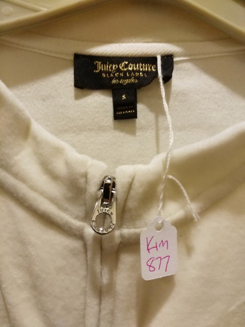 Juicy Couture Sz S NWT Juicy Couture black label velour mixed logos sweatsuit top Image 1