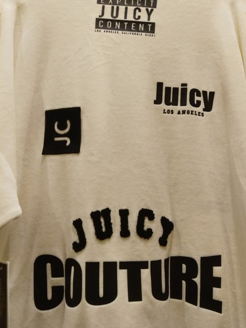 Juicy Couture Sz S NWT Juicy Couture black label velour mixed logos sweatsuit top Image 10