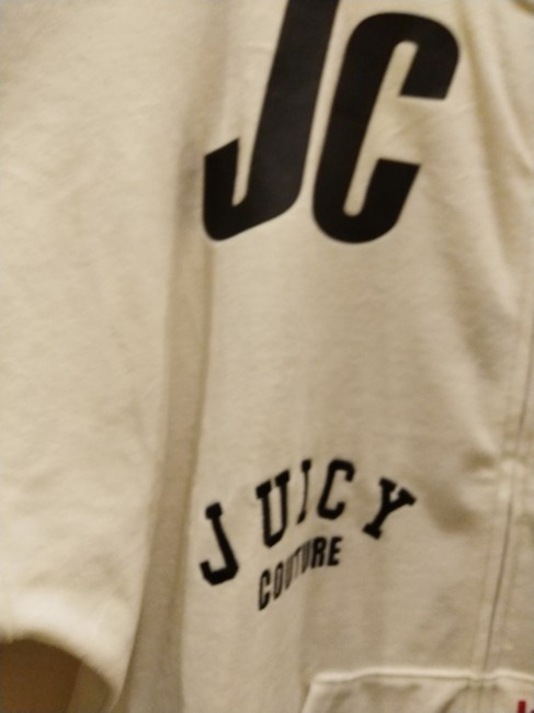 Juicy Couture Sz S NWT Juicy Couture black label velour mixed logos sweatsuit top Image 2