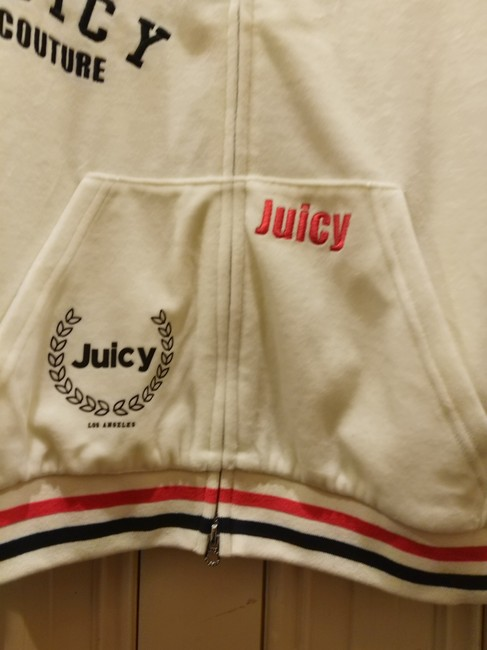 Juicy Couture Sz S NWT Juicy Couture black label velour mixed logos sweatsuit top Image 4