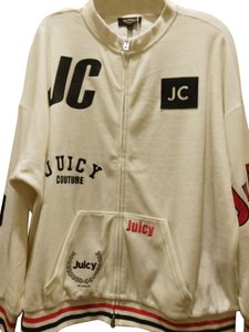 Juicy Couture Sz S NWT Juicy Couture black label velour mixed logos sweatsuit top
