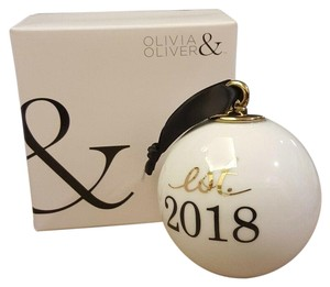 Nordstrom Olivia & Oliver Est. 2018 ORNAMENT NEW Wedding Keepsake