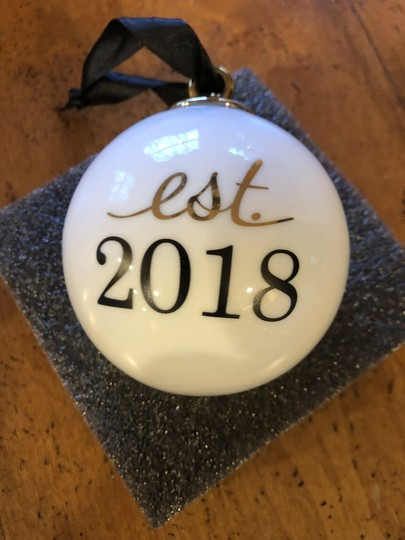 Nordstrom Olivia & Oliver Est. 2018 ORNAMENT NEW Wedding Keepsake Image 1