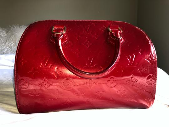 Louis Vuitton Satchel in Red Vernis Image 2