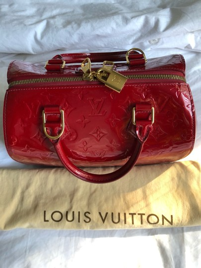 Louis Vuitton Satchel in Red Vernis Image 8