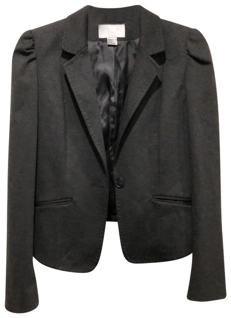 Preload https://img-static.tradesy.com/item/25151381/h-and-m-black-with-ruched-shoulders-blazer-size-6-s-0-1-650-650.jpg