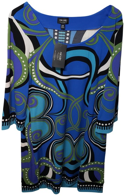 Item - Blue Multi Mid-length Night Out Dress Size 8 (M)
