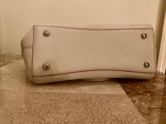 Coach Satchel in silver and cream Image 1