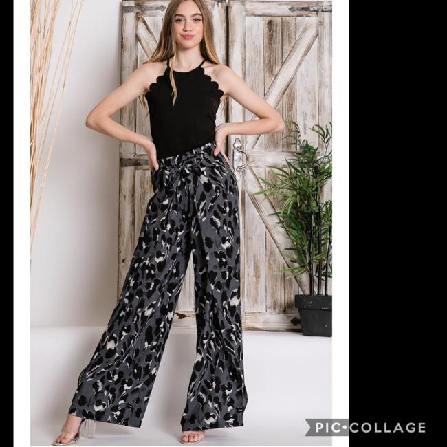 Blu Trends Super Flare Pants Gray, Black, & White Image 1