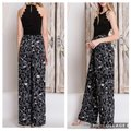 Blu Trends Super Flare Pants Gray, Black, & White Image 3