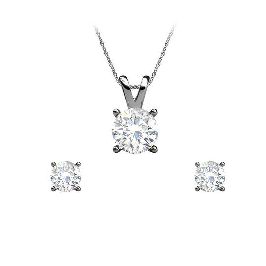 Preload https://img-static.tradesy.com/item/25151440/white-half-carat-natural-diamond-earrings-pendant-set-in-gold-necklace-0-0-540-540.jpg
