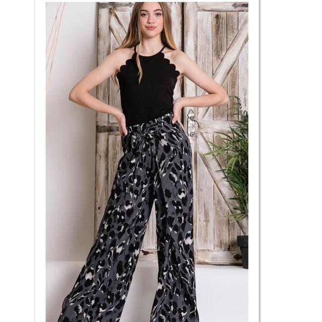 Blu Trends Super Flare Pants Gray, Black & White Image 1