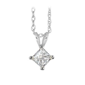 Marco B Natural Diamond Solitaire Pendant in 14K White Gold