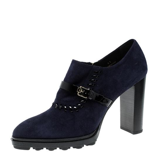 Tod's Suede Blue Boots Image 1