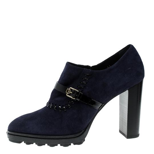 Tod's Suede Blue Boots Image 3