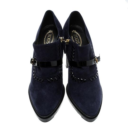 Tod's Suede Blue Boots Image 4