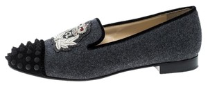 Christian Louboutin Wool Grey Flats