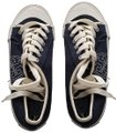 Tory Burch Canvas Never Worn Clean Soles Size 5m Navy Athletic Image 0