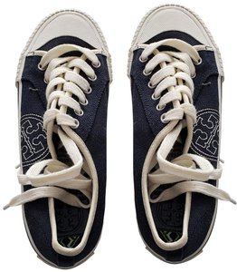 Tory Burch Canvas Never Worn Clean Soles Size 5m Navy Athletic