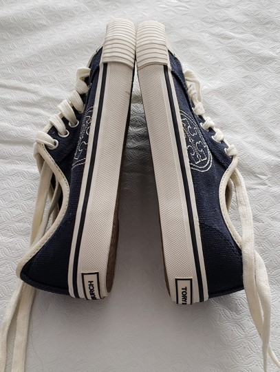 Tory Burch Canvas Never Worn Clean Soles Size 5m Navy Athletic Image 1
