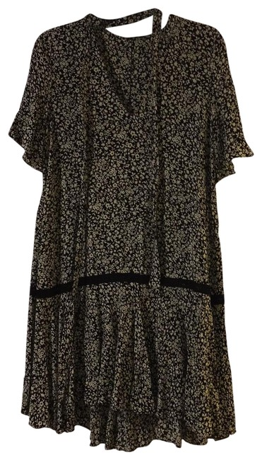 Item - Multicolor Sleeve Floral Short Casual Dress Size 4 (S)