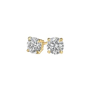 Marco B Push back Diamond Stud Earrings in 14K Yellow Gold