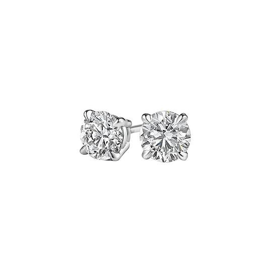 Marco B Half Carat Natural Diamond Stud Earrings in White Gold Image 0