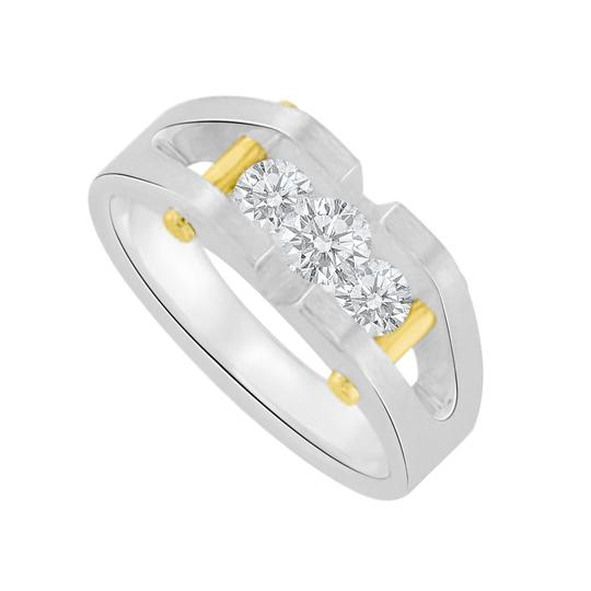 Preload https://img-static.tradesy.com/item/25151897/white-channel-set-cubic-zirconia-14k-two-tone-gold-mens-ring-earrings-0-0-540-540.jpg
