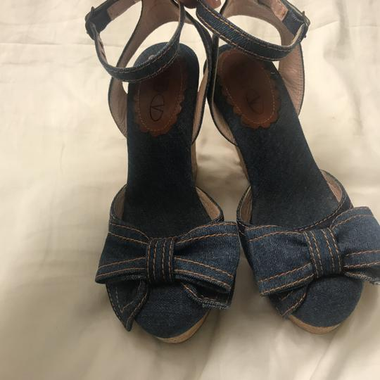 RED Valentino Blue Jean Wedges Image 2