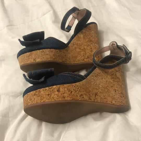 RED Valentino Blue Jean Wedges Image 4