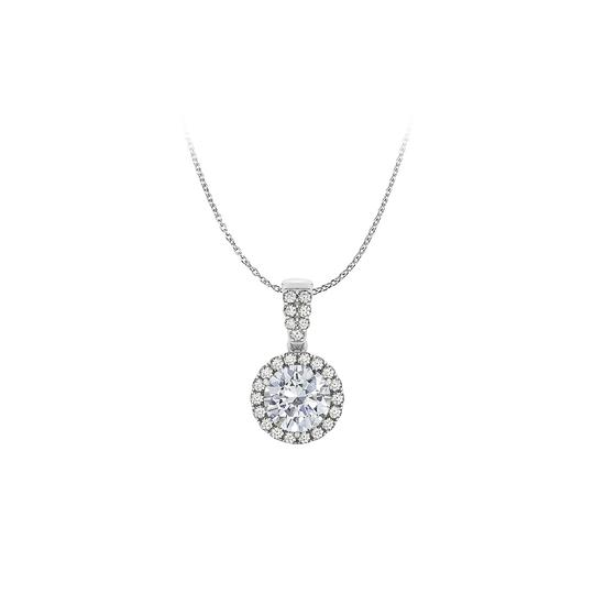 Preload https://img-static.tradesy.com/item/25152081/white-natural-diamonds-halo-pendant-14k-gold-free-chain-necklace-0-0-540-540.jpg