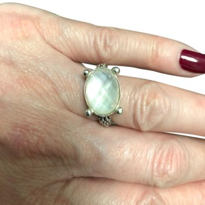 Michael Dawkins Starry night granulated moonstone doublet ring