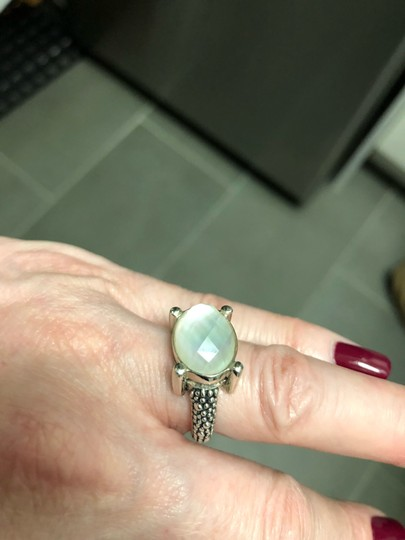 Michael Dawkins Starry night granulated moonstone doublet ring Image 3