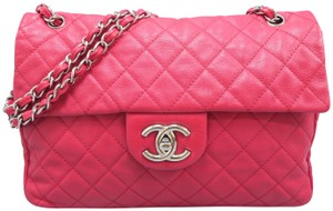 Chanel The Business Single Flap Caviar Shoulder Bag