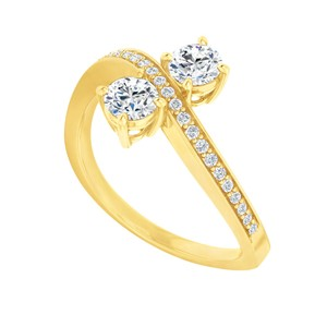 Marco B Cubic Zirconia Engagement Ring in 14K Yellow Gold