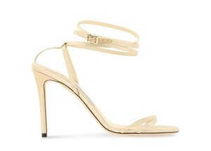 Jimmy Choo Satin Nude gold Pumps