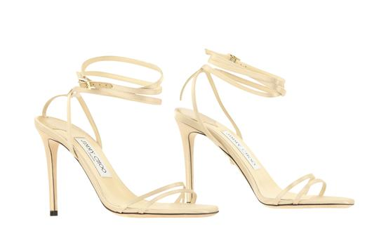 Jimmy Choo Satin Nude gold Pumps Image 1