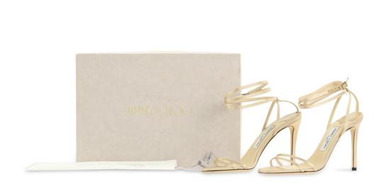 Jimmy Choo Satin Nude gold Pumps Image 11